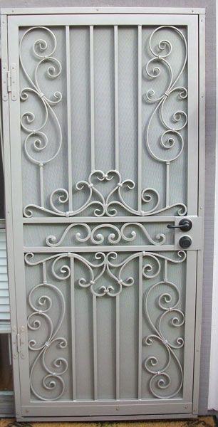 Wrought Iron Security Door Designs - using gate scrolls ...